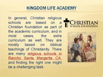 CHRISTIAN RELIGIOUS SCHOOLS