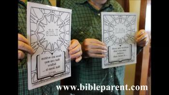 Bible coloring, mirror pages for VBS and Sunday School
