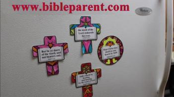 free VBS crafts, color your own fridge magnet