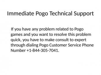 Pogo Customer Support +1-844-305-3103