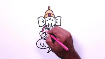 Ganpati Drawing for Kids - Ganesh Drawing Step by Step