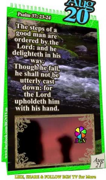 BGN GOSPEL TV - DAILY BIBLE CALENDAR AUGUST 20