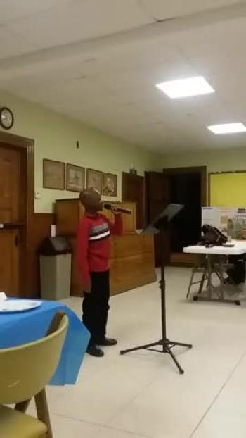 That's my King! performed by a ten year old in honor of Dr. S. M. Lockridge