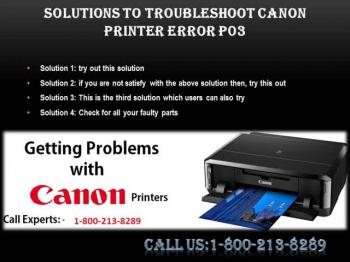 How To Fix Canon printer Error P03?1-800-213-8289