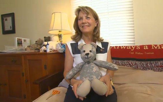 Lisa Freeman holding Teddy Bear