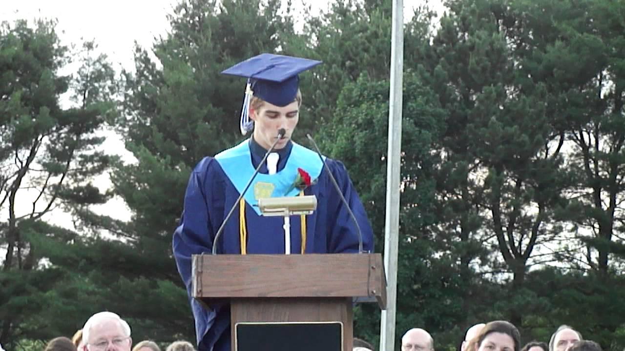 Kyle Gearwar giving his graduation speech.