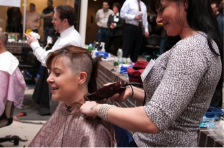 Awesome Employees Shave their Heads for a Cancer Research