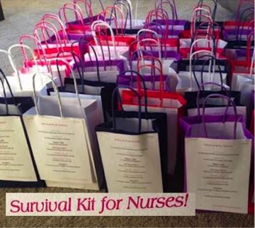 Gift bags to show appreciation were left anonymously.