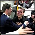Amazing Surprise Proposal on a London Train