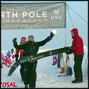 Touching Proposal at the North Pole After a Marathon