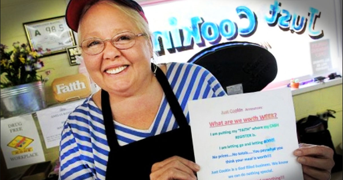 This Restaurant Owner Decided To Let God Run Her Business... Now She Doesn't Charge For Anything!