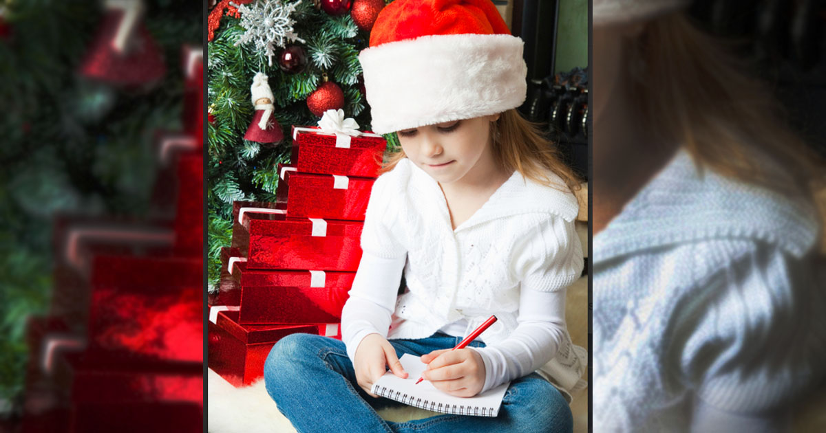 Little Girl Wants To Keep Christ In Christmas. And She Wants Santa To Help!