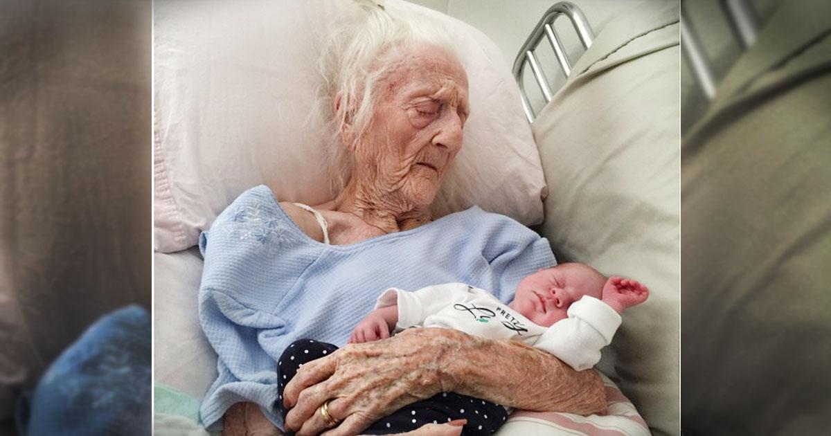 101 Year Old Grandma Holds Grandbaby Before Passing--Touching!