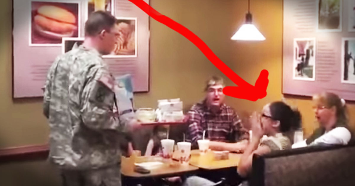 Now Serving,One Chick-Fil-A Soldier Surprise!