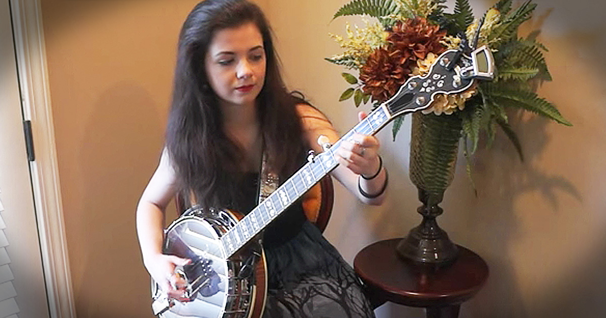 What This Young Girl Did With A Banjo And A Bluegrass Song...Where Did That Talent Come From!?!