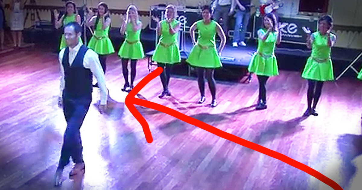 Groom Surprises Bride With Irish Dance At Their Wedding