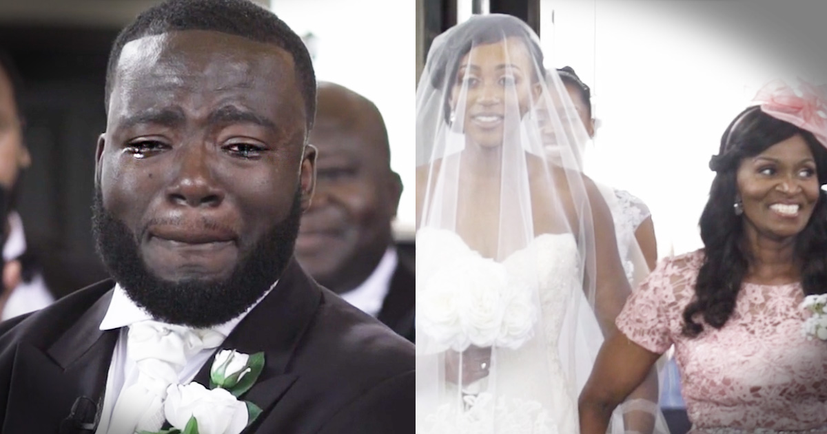 Groom's Tearful Reaction To His Bride Is Beautifully Honest