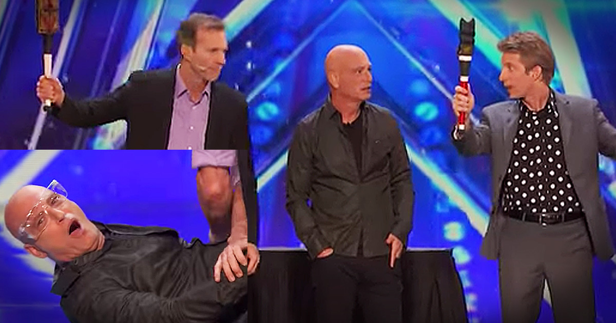 Funny Jugglers' Heart-Thumping Audition Has Everyone Nervous