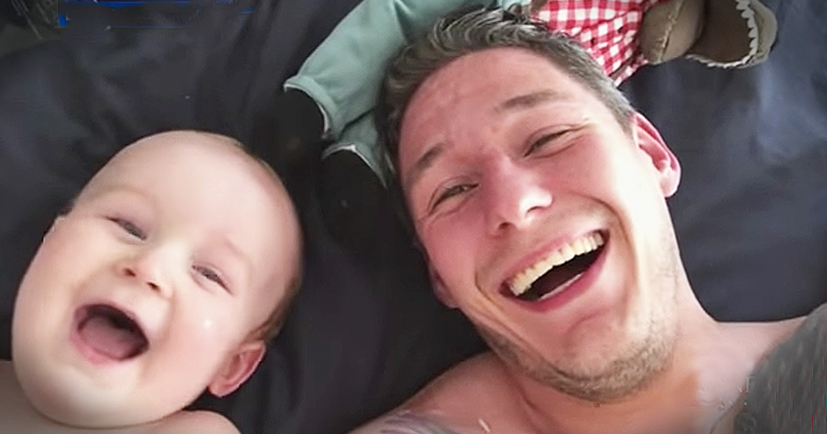 Giggling Baby Thinks His Dad Is Adorable