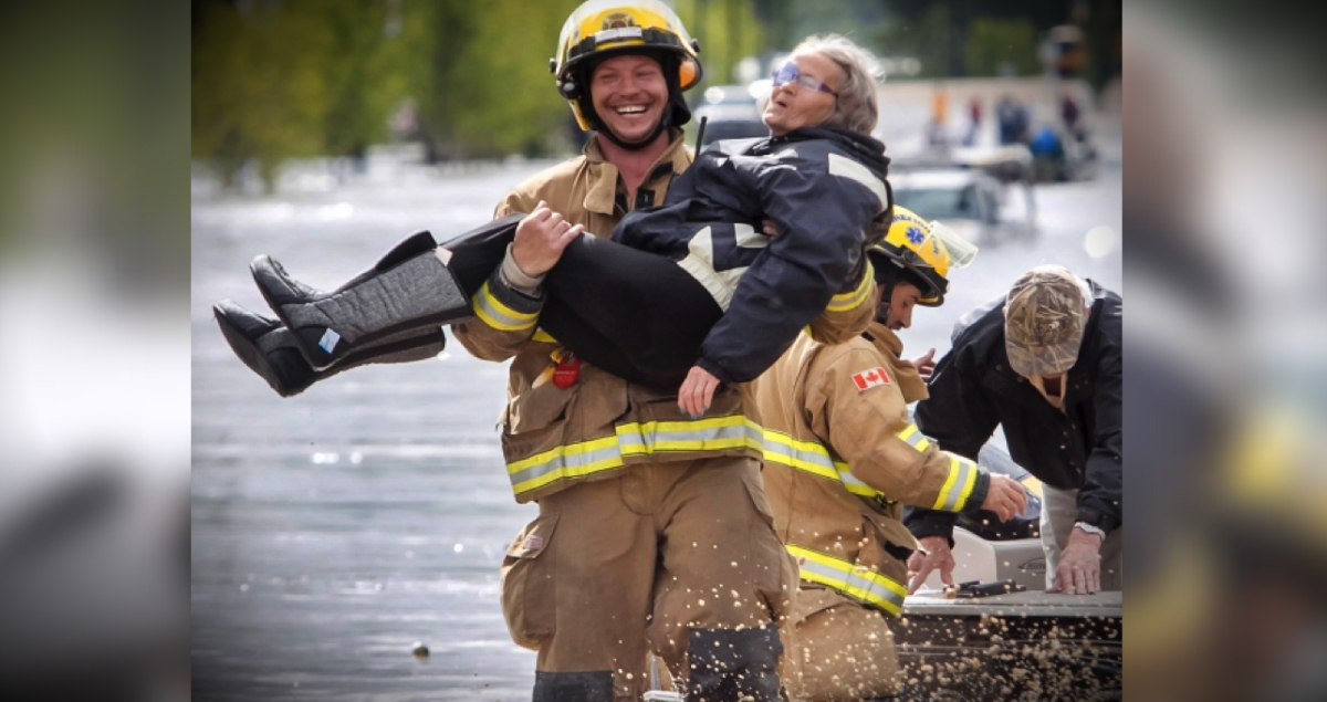You'll Love What's Behind This Firefighter's Huge Smile!