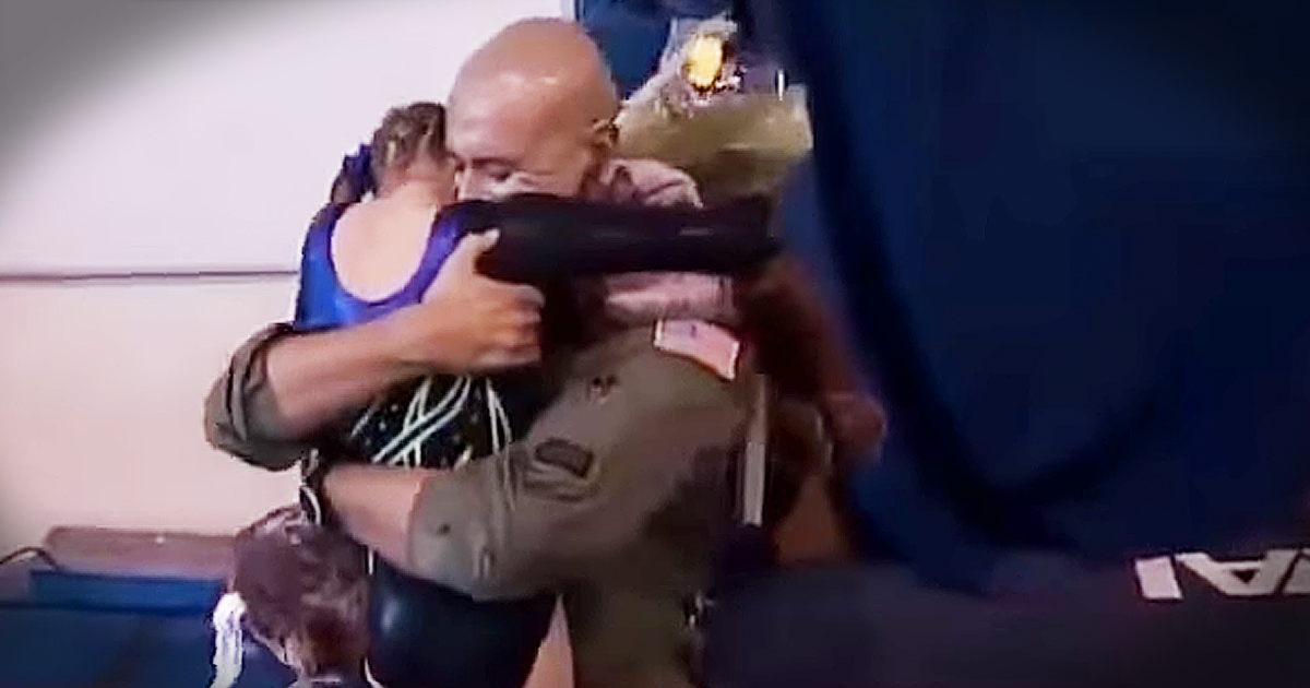 Soldier Surprises Daughter At Gymnastics Meet With Emotional Homecoming