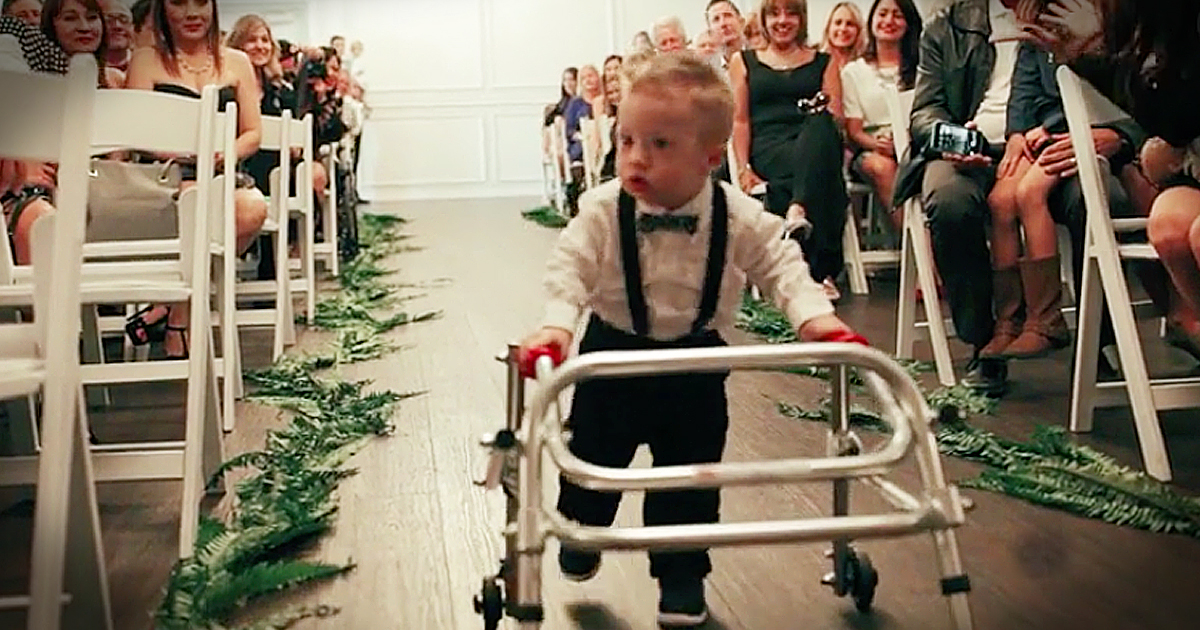2-Year-Old With Down Syndrome Practices For Months To Be Ring Bearer