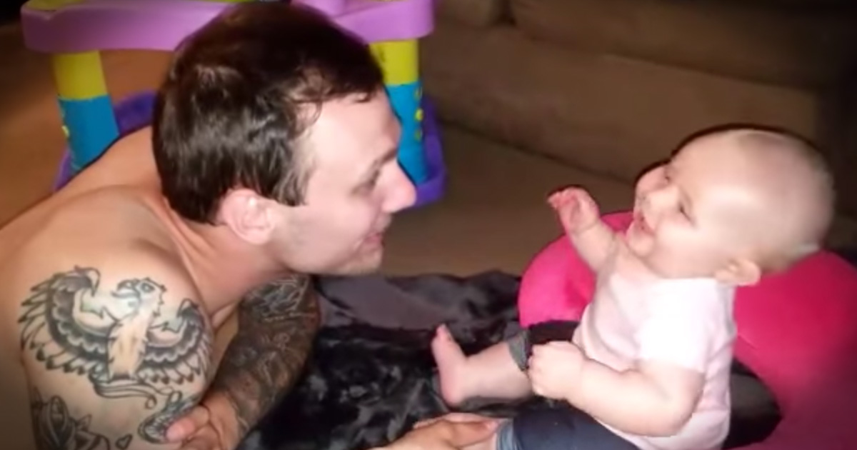 Baby Thinks Her Daddy's 'Scares' Are Hilarious