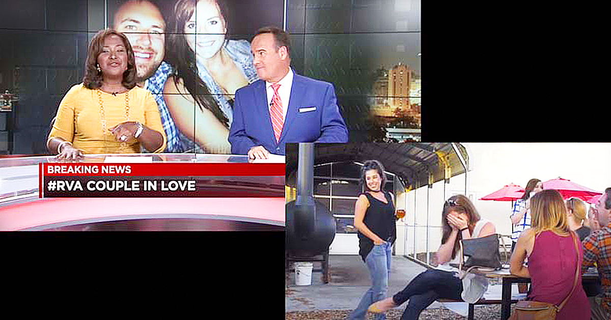 TV News Anchors' Breaking News Report Turns Into Epic Proposal
