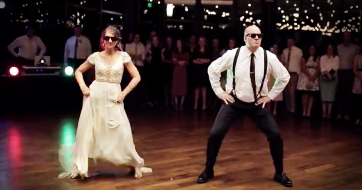 Father And Daughter Surprise Wedding Guests With Epic Dance