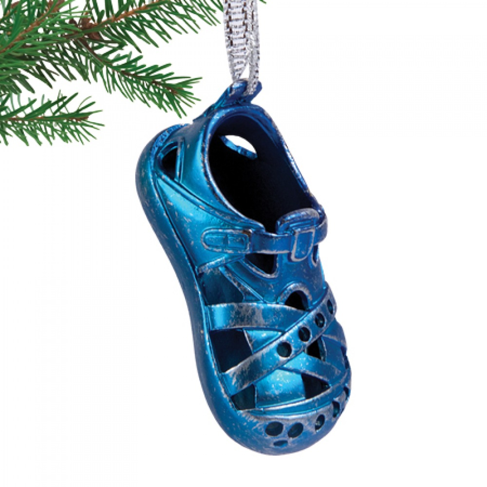 Christmas Shoe Blue Ornament 2016