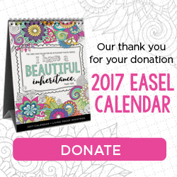 2017 Easel Calendar