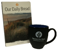 Our Daily Bread Prayer Journal and Discover the Word mug