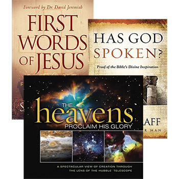The Heavens Declare His Glory, First Words of Jesus, Has God Spoken?