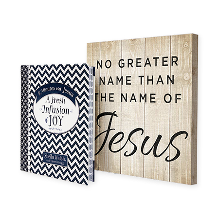 No Greater Name Canvas and 5 Minutes with Jesus: A Fresh Infusion of Joy