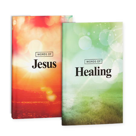 Words of Jesus & Words of Healing paperback books